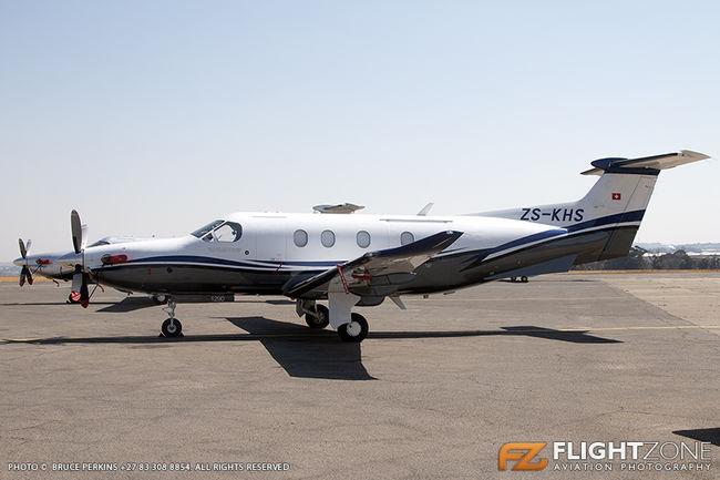 Pilatus PC-12 ZS-KHS Rand Airport FAGM
