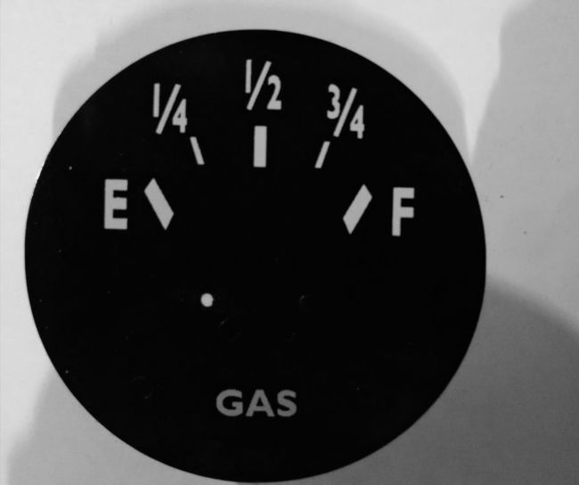 'GAS' Gauge Decal-1
