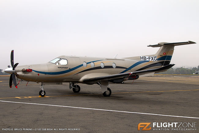 Pilatus PC-12 HB-FXG Rand Airport FAGM