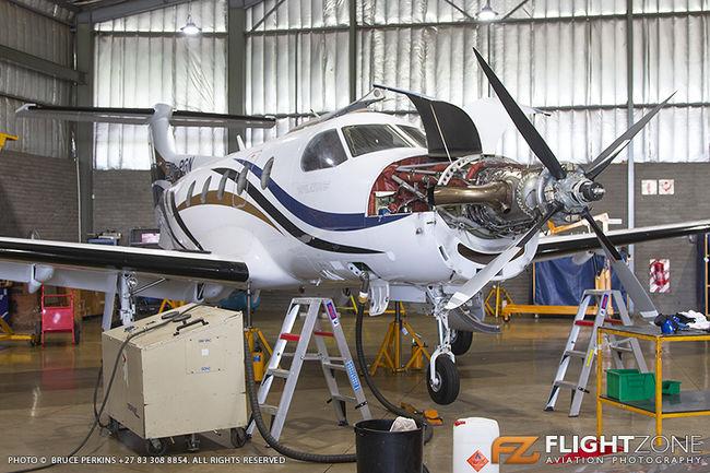 Pilatus PC-12 ZS-PGN Rand Airport FAGM