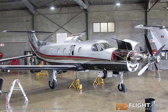 Pilatus PC-12 ZS-ATM Rand Airport FAGM
