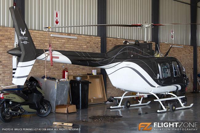 Bell 206B Jet Ranger ZS-HFD Rand Airport FAGM