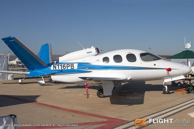 Cirrus SF-50 Vision Jet G2 N116PB Wonderboom Airport FAWB