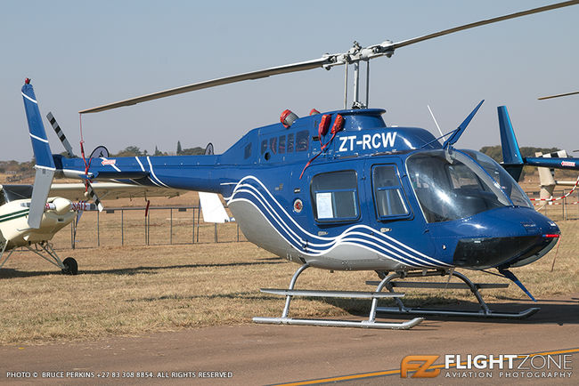 Bell 206B Jet Ranger ZT-RCW Wonderboom Airport FAWB