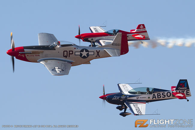 North American P-51D N72FT Mustang Sally Walter Extra 330 LX ZS-EXT Xtreme