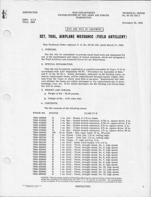 Airplane Mechanic, Field Artillery, TO-00-30-154 p1