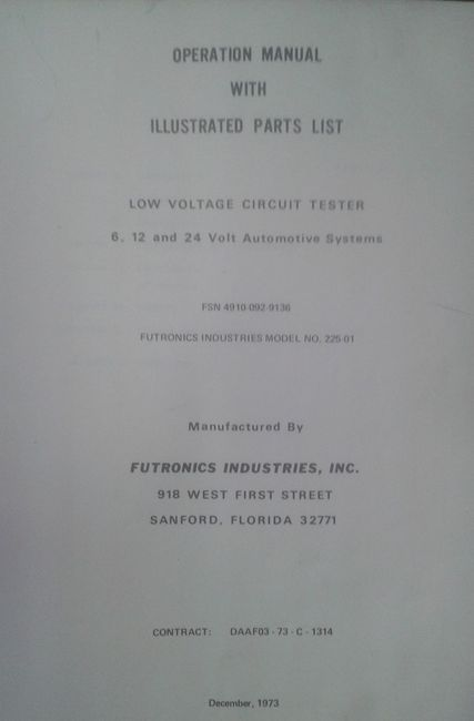 low voltage test set 6, 12, 24 volt automotive