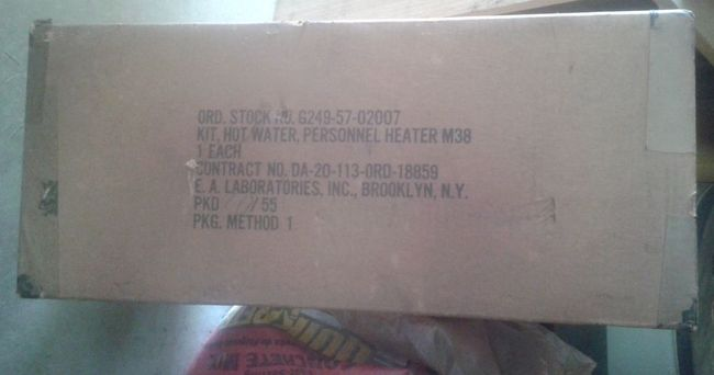 M38 water heater NOS in the box 1955 dtd