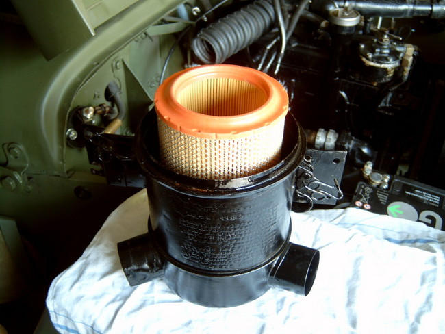 Willys Oil Bath Air Cleaner : Air filter conversion the cj a page forums