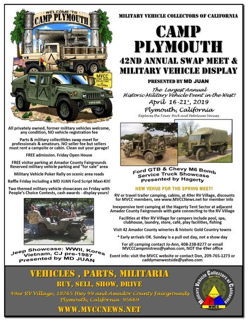 Camp Plymouth 2019 Flyer