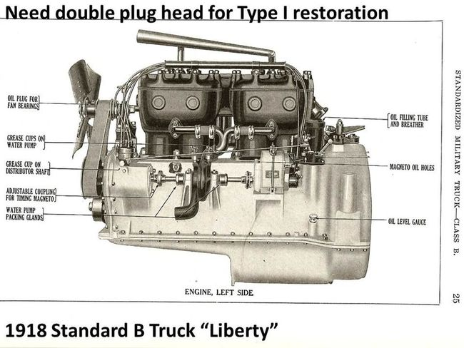1918 Standard B Liberty Truck parts