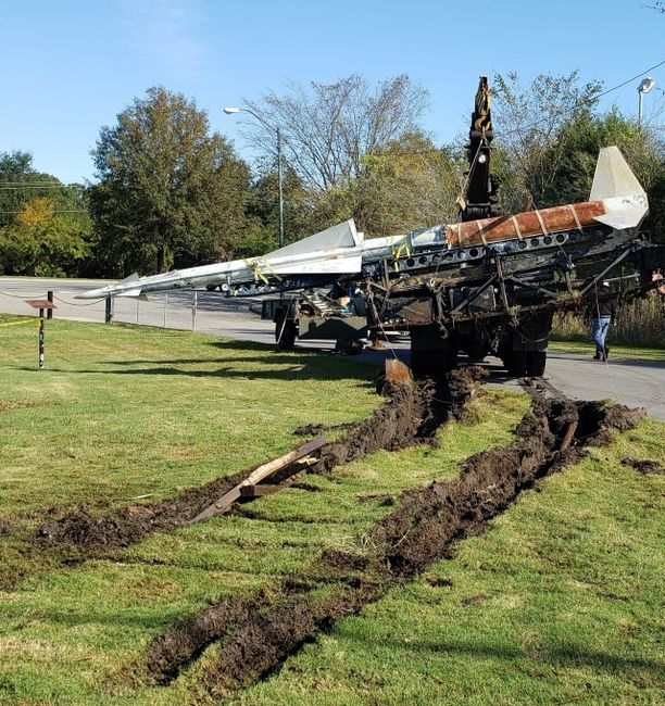 Nike Missile Move pulled from ground 50 years later