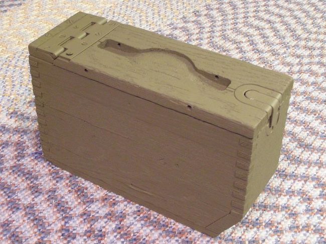 Wtk M 1917 Browning Wooden Ammo Box Question G503 Military Vehicle