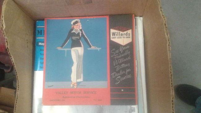 Willard Battery Calendar 19402
