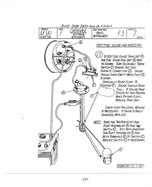 sw fuel gauge wiring diagram