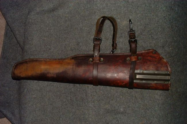 Leather rifle scabbard 1