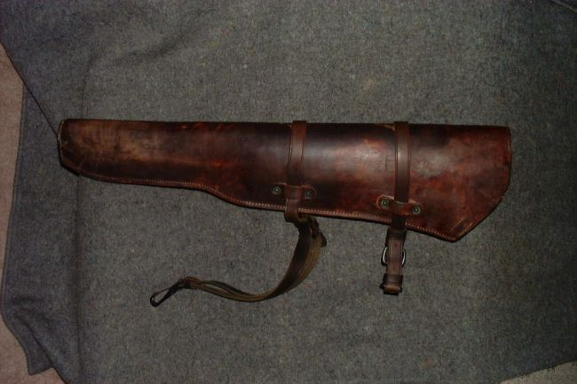Leather rifle scabbard 2