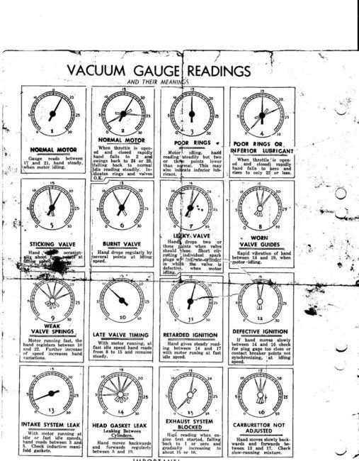 Hook up vacuum gauge
