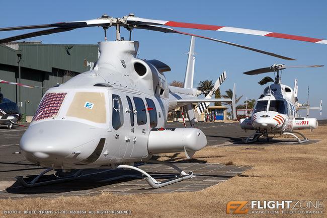 Bell 430 ZT-RRT ex D2-EYS N430JA and Bell 222 UT ZS-HDK Rand Airport FAGM