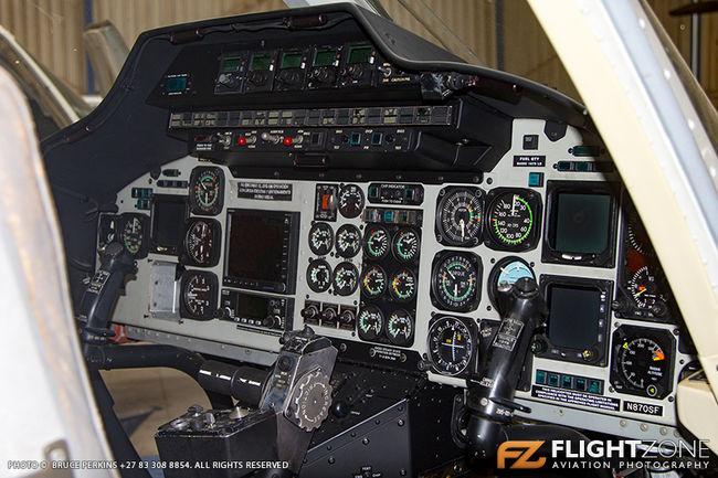 Bell 230 UT ZT-HDB ex CX-LRN Rand Airport FAGM Cockpit