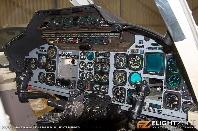 Bell 230 UT ZT-HDA ex CX-DLM Rand Airport FAGM Cockpit