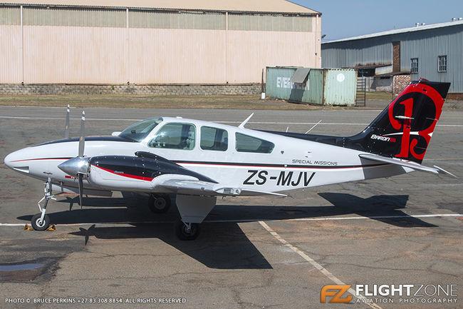 Beechcraft Baron E55 ZS-MJV Rand Airport FAGM 55