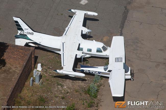 Mitsubishi MU-2 ZS-ONB Cessna 172 Skyhawk ZS-PKH Rand Airport FAGM