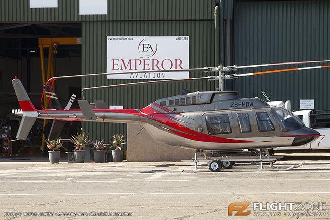 Bell 206L Long Ranger ZS-HBW Rand Airport FAGM