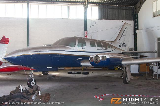 Cessna 402C ZS-MSH Rand Airport FAGM 402
