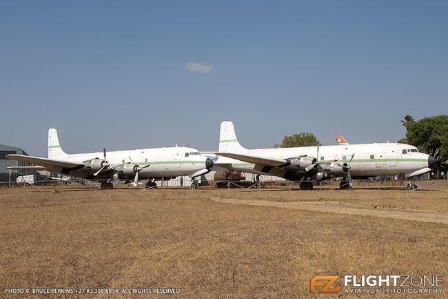 Douglas DC-6 Super Skymaster 9Q-CGZ (C-118A cn 43558/256) and 9Q-CYO (DC-6B