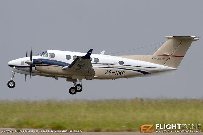 Beechcraft King Air 200 ZS-NKC Rand Airport FAGM