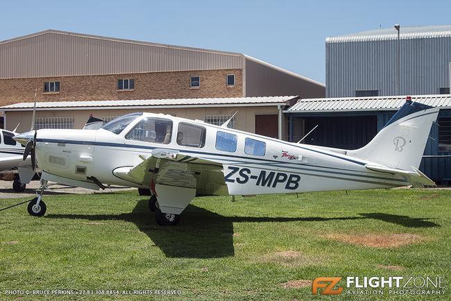Beechcraft B36TC Bonanza ZS-MPB Rand Airport FAGM 36