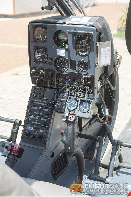 Aerospatiale SA-341 Gazelle ZU-RZM Rand Airport FAGM Cockpit