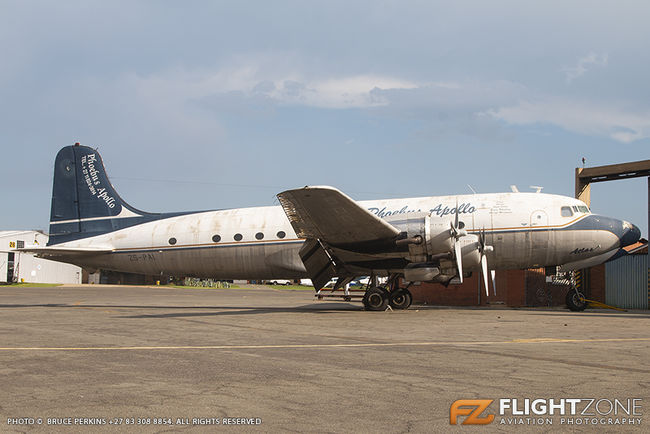 Douglas DC-4 C-54 Skymaster ZS-PAI Rand Airport FAGM