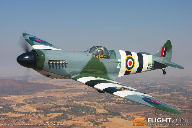 Supermarine Spitfire MK26 ZU-ZPA Rand Airport FAGM A2A