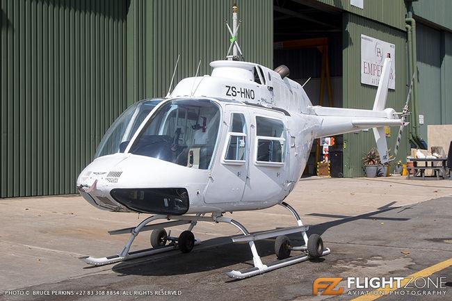 Bell 206B Jet Ranger ZS-HNO Rand Airport FAGM