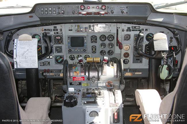 Fokker F-27 500 Friendship 9Q-CNH TC-MBH Rand Airport FAGM Cockpit