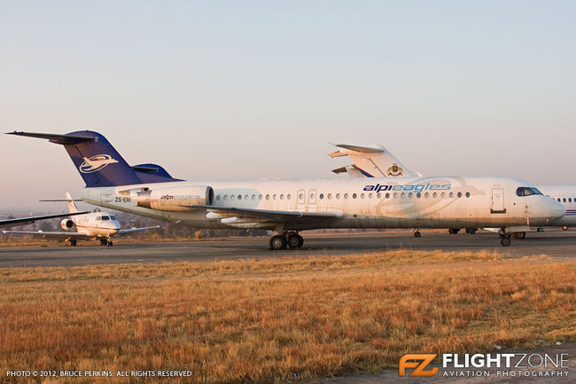 Fokker F28-100 ZS-ERI Lanseria FALA