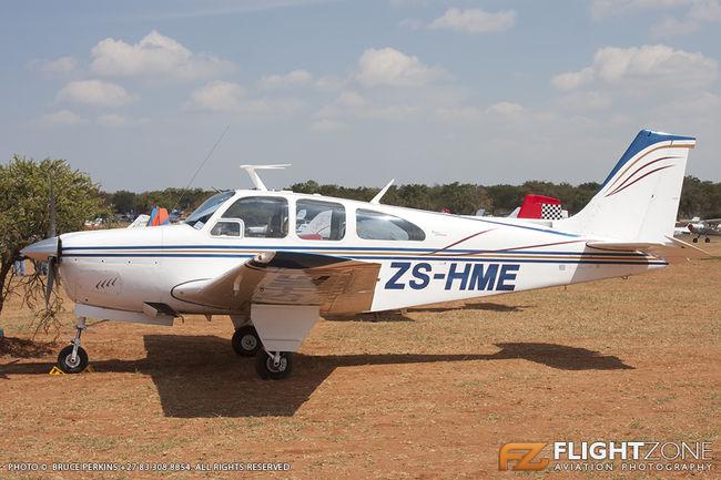Beechcraft 35-C33A Debonair Bonanza ZS-HME Zebula Airfield