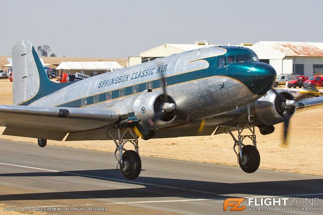 Dakota DC-3 C-47 ZS-NTE Secunda Airfield FASC