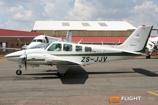 Beechcraft Baron 58 ZS-JJV Lanseria Airport FALA