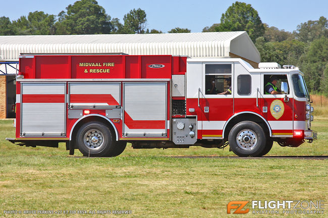 Fire Truck at Tedderfield Airport FATA