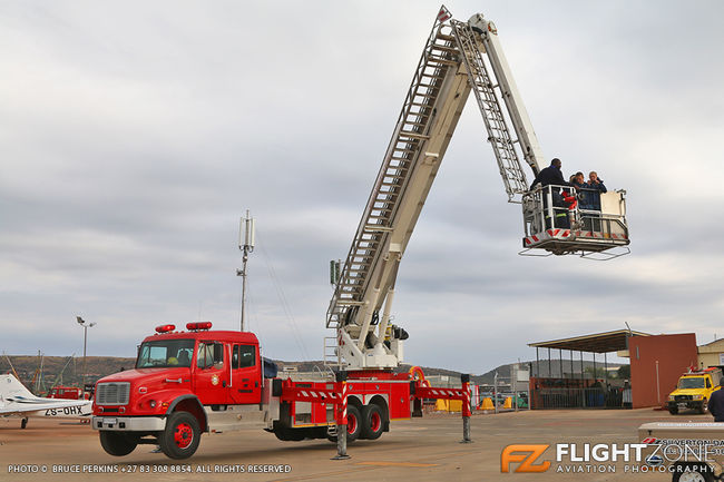 Fire Truck with Bronto Skylift on Freightliner FL112 Chassis Wonderboom Air