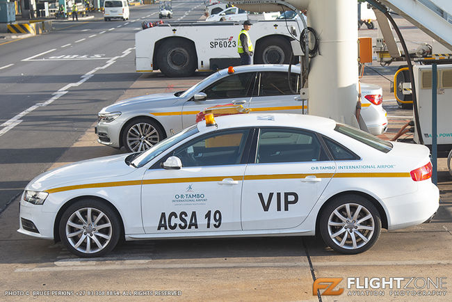ACSA BMW Audi VIP car OR Tambo International Airport FAOR