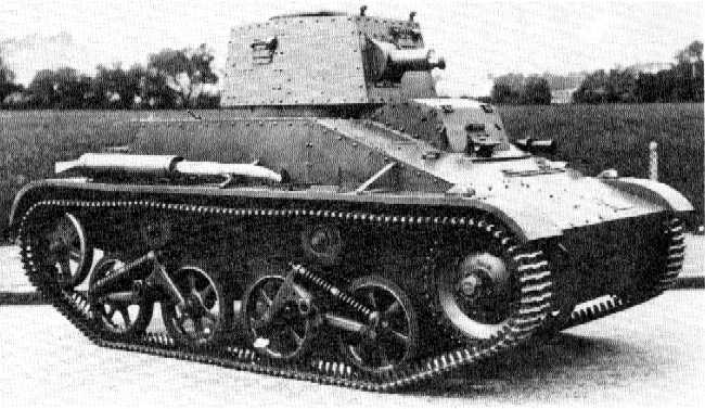 On of the Vickers 1938 model light tanks delivered to the KNIL.