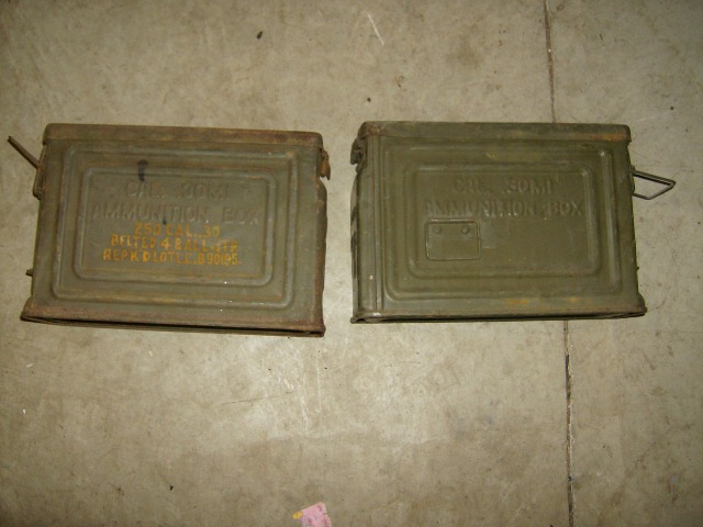 M1919 Browning 30 cal Machine Gun Ammo Cans
