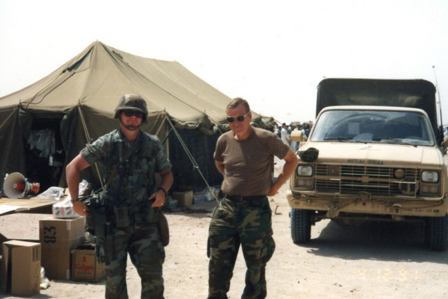 My father in Operation Desert Storm 1991