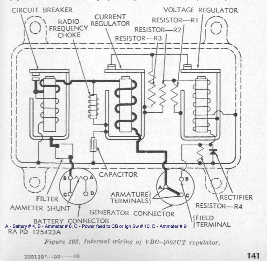 Willy S Jeep Alternator Regulator Wiring Diagram Internal Cj2a 12v M38 Testing The Charging System G503 Military Vehicle Message Forums Basic Gm